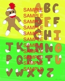 Sock Monkey Alphabet Chart - Full Color Poster!