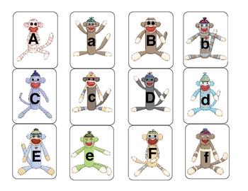 Sock Monkey Alphabet Match