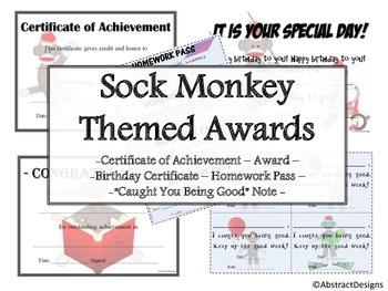 Sock Monkey Awards Set