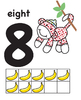 Sock Monkey Room Decor Labels Stationary Alphabet Numbers