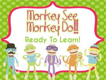 Sock Monkey Behavior Clip Chart