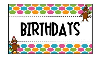Sock Monkey Birthday Posters