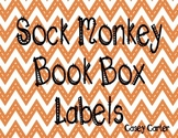 Sock Monkey Book Box Labels