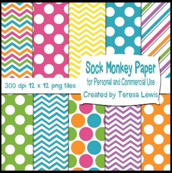 Sock Monkey Bunting