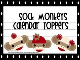 Sock Monkey Calendar Headers