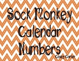Sock Monkey Calendar Numbers