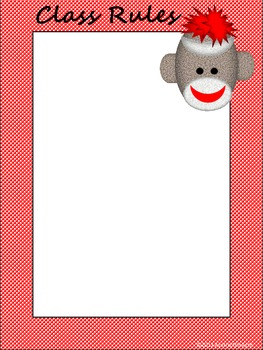 Sock Monkey Classroom Management Posters