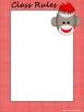 Sock Monkey Classroom Management Posters