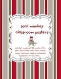 Sock Monkey Classroom Posters