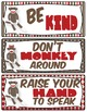 Sock Monkey Classroom Rules