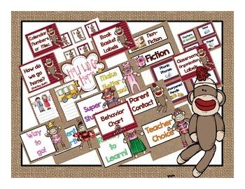 Sock Monkey Classroom Decor