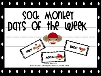 Sock Monkey Days of the Week