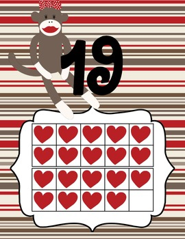 Sock Monkey Decor Numbers 1 to 25
