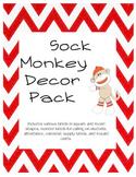 Sock Monkey Decor Pack