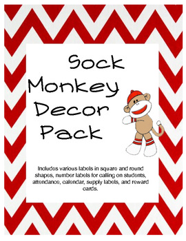 Sock Monkey Decor Pack