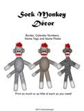 Sock Monkey Decor Set