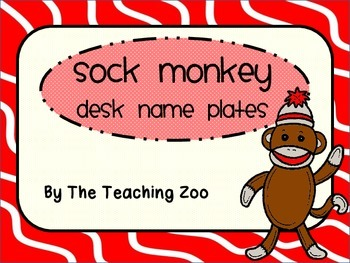 Sock Monkey Desk Name Plates