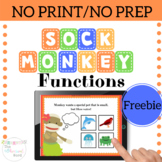 Sock Monkey Functions FREEBIE Early Language NO PRINT Nouns