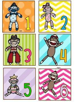 Sock Monkey Classroom Theme Decor