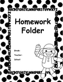 Sock Monkey Homework Folder Cover
