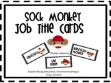 Sock Monkey Job Title Cards