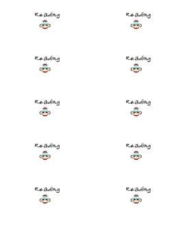 Sock Monkey Journal/Folder Labels