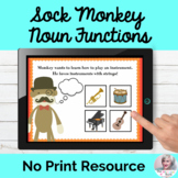Sock Monkey Language Functions NO PRINT Teletherapy Lesson