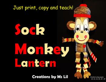 Sock Monkey Lantern Craft  ::  Year of the Monkey Craft  ::  Monkey Craft