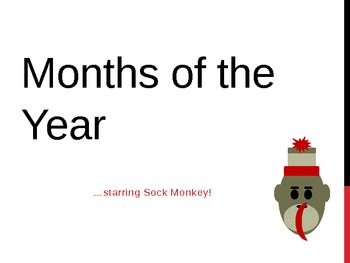 Sock Monkey Months of the Year PowerPoint