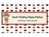 Sock Monkey Name Plates