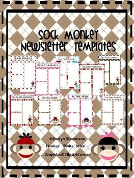 Sock Monkey Newsletter Template Pack