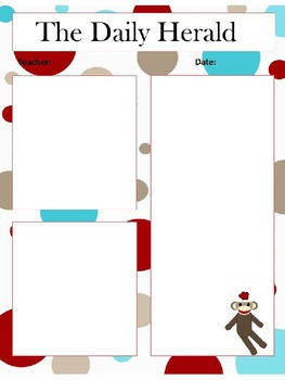 Sock Monkey Newsletter Template Pack