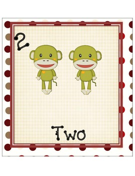 Sock Monkey Numbers 1-20 Wall Chart