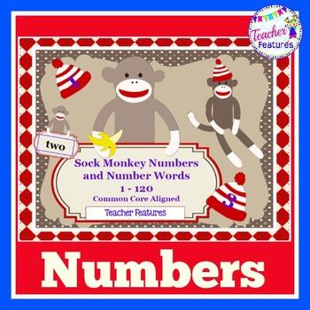 Number Words 1-120: Sock Monkeys