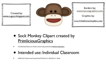 Sock Monkey Packet for Classroom