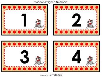 Sock Monkey Polka Dot Classroom Theme
