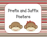 Sock Monkey Prefix and Suffix Posters