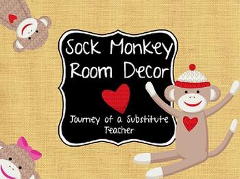 Sock Monkey  Room Decor Pack