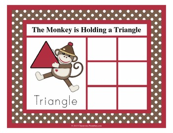 Sock Monkey Shape Sorting Mats