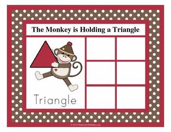 Sock Monkey Shape Sorting Mats