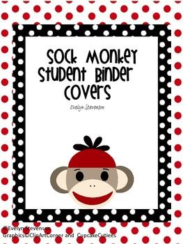 Sock Monkey Student Binder Covers