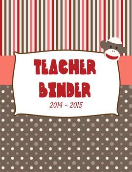 Sock Monkey Teacher Binder