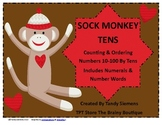 Sock Monkey Tens:  Skip Counting & Ordering Numbers 10-100