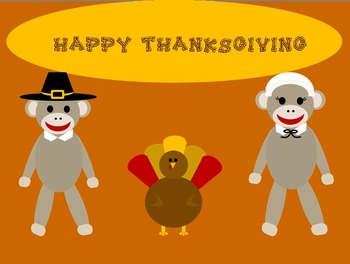 Sock Monkey Thanksgiving