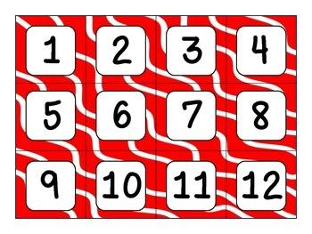 Sock Monkey Theme Calendar Number Cards