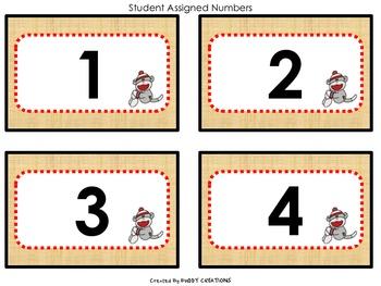 Sock Monkey Theme Classroom