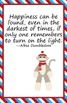 Sock Monkey Theme Classroom Posters Bright Blue and Red