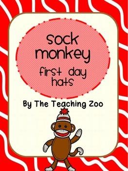 Sock Monkey Theme First Day Hats