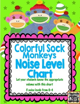Colorful Sock Monkey Theme Noise Level Chart