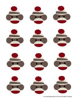 Sock Monkey Themed Behavior Clip Chart